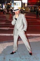 Versace pin striped suit